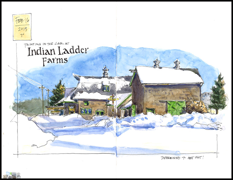 Indian Ladder Farms in winter