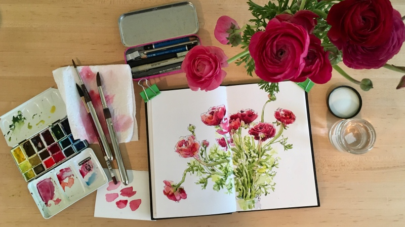Ranunculus / Watercolor