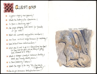We got most of these answered during our travels...except the song lyrics.