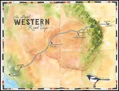 Great Western Road Trip Map